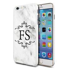 personnalisé marbre étui de téléphone pour apple Samsung Initiale Texte Nom - 23