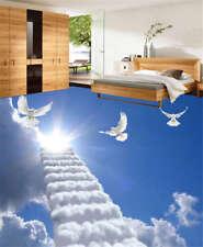 Skywards Ladder 3D Floor Mural Photo Flooring Wallpaper Home Print Decoration