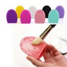 Spazzola di Trucco in Silicone Detergente Per Cosmetici Fondazione pulizia brushegg Guanto UK