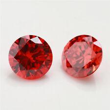 100pcs 0.8~10.0mm Round Shape Orange 5A loose cz stone cubic zirconia gemstone