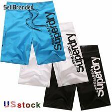 US Men's Quick-Dry Beach Surfing Pants Soft Cotton Gym Swim Trunks Board Shorts