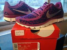 Womens Nike Free 5.0 V4 Leopard Raspberry Red Silver air max wmns 95 511281 603