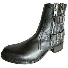 Steve Madden Womens Mottoo Leather Zipper Ankle Boot