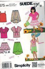 1675 UNCUT Simplicity Sewing Pattern Girls Skirt Knit Top Bolero Girly Cool OOP