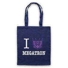 I HEART LOVE MEGATRON TRANSFORMERS UNOFFICIAL CARTOON TOTE BAG LIFE SHOPPER