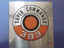 MoPar 383 SUPER COMMANDO Pie Tin FLAT Cuda Fury Plymouth