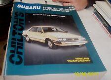 SUBARU 1970 - 1984 Workshop Manual