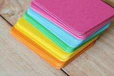 500pc colori vivaci in Bianco Biglietti da visita ATC fai da te Nozze Luogo Nome Carte Craft