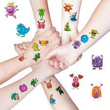 Monster Tattoo Sticker Kinder Kindergeburtstag wählbar 24 oder 48