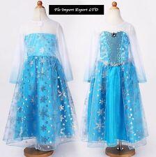 Frozen Vestito Carnevale Maschera Elsa Girl Dress up Costume 789005B