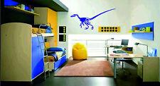 Velociraptor Scheletro Dinosauro VINYL Adesivo da parete Decorazioni Grande PIC