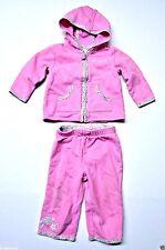 ~Baby Gap girl hoodie jacket top pants set 12-18mon flowers Pink outfit CUTE!