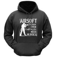 CASCO Airsoft Felpa con cappuccio anche chi ha bisogno di eroi da uomo S-2XL Novità Divertente Felpa con Cappuccio