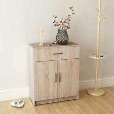 White/Oak Modern Chipboard Sideboard Storage Cabinet with Drawer Hallway Room
