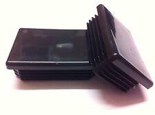 4 x negro plástico Suajes final Tubo Tapas insertos enchufe tapón rectangular 80mm X 40mm