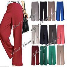 Le donne Plain Hareem plazo Gamba Larga Svasato Pantaloni Legging Pants Plus Taglia 8-26