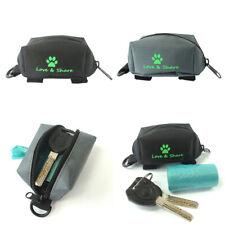 Pet Dog Leash Attachment Zippered Pouch Waste Bag Dispenser Dog Waste Bag