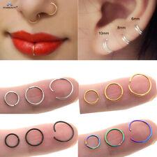 Nose Lip Ear Ring Hoop Rings Surgical Body Piercing Earring Stud 6 - 10 MM