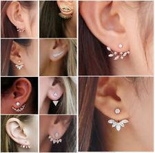 Crystal Rhinestone Ear Stud Earrings Charms 1 Pair Fashion Women Lady Elegant