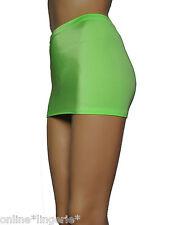 Mini Skirt Neon Green Sexy Micro Party Club Dancer UV Flo Womens Lycra Short CS7