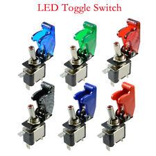 Kippschalter 12V/20A SPST beleuchtet LED Rot Grün Blau Weiß 1-polig KFZ Switch