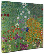 Gustav Klimt FLOWER GARDEN Canvas Print Picture Wall Art Square Frame