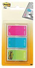 POST-IT Index studio Bandiere-colori assortiti (3x 20) su test / studio / da fare: fogli