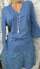 Sheego Kleid Tunika Damen Übergröße Größe 50 weich fallend (447) NEU