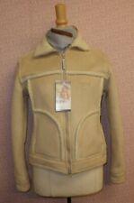 Riff Raff Ladies Faux Sheepskin Jacket Natural (Cream) Size Small