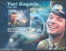 "Uganda ""50th Anniversary Yuri Gagarin Manned Space Flight "" S/Sheet Mint Nh"
