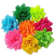 9 cm clips de pelo de flores de tela de la arruga Motas Dama Boda Festival de Danza