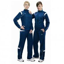 erima Nano Line Präsentationsanzug Jogginganzug Training Damen denim blau / weiß