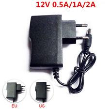 AC DC 12V 2A 0.5A 500MA Power Supply Adapter US EU Plug For LED Strip light CCTV