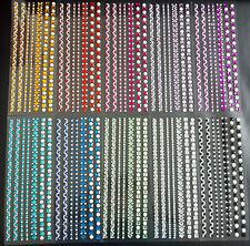 1 Bogen selbstklebende XXL-Glitzerstein-Bordüren verschiedene Farben zur Auswahl