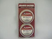 Gudebrod Meatmaster Black Braided Dacron 10 - 45 Lb Test, 50 - 300 Yds