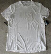 Nike Herren Running Lauf Sport Shirt Weiß Grau Größe M, L Neu