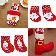 Christmas Deer Pattern Stockings Socks Tree Hanging Home Fireplace Stove Decor