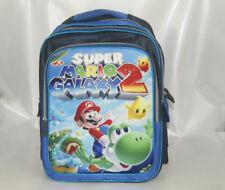"16"" Backpack School Book Bag Blue - Super Mario Bros Galaxy 2 STAR YOSHI green"