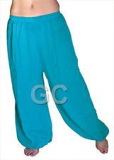 Dodger Blue Cotton Harem Yoga Pants Belly Dance Trousers Aladdin Pantalons