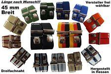 45 mm Hosenträger, viele Längen / Farben,extra starker Breitklip, Blitzversand