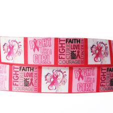 """5/10/50Y 7/8""""22mm Pink Girl Grosgrain Cartoon Printed Pattern Ribbon Craft"""