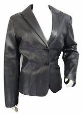 Ladies Black Napa Leather Slim Tight Fitted Long Biker Fashions Jacket Bike 3058