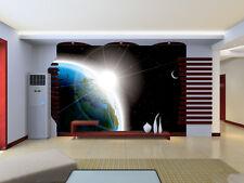 3D Bright planet, blue earth  Wall Paper Wall Print Decal Wall Deco AJ WALLPAPER