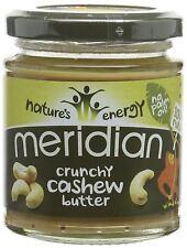 Meridian Foods Natural Crunchy Cashew Butter 170g