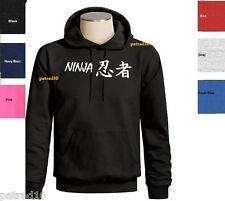 Japan Ninja Japanese Fighting Sweatshirt  Martial Art  Combat Hoodie SZ S-3XL