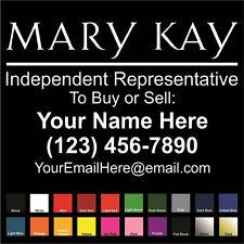Mary Kay Cosmetics Custom Decal - Choose Size & Color - Car Van SUV Window