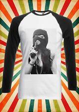 Tattoo Girl Gun Violence Cool Men Women Long Short Sleeve Baseball T Shirt 1049
