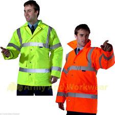 Hi Viz Visibility Mens Quality Traffic/Parka 3/4 Jacket