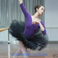 NWT Ladies Professional Ballet Dance Tutu Hard Organdy Platter Skirt Dress Black