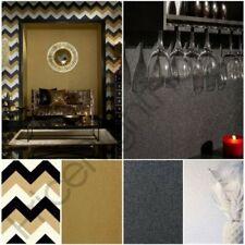 Arthouse Famosos Chevron & Liso Papel pintado con Purpurina - DORADO, negro,